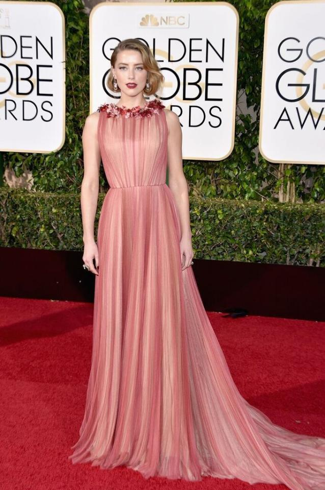 Best: Amber Heard in Gucci at the 73rd Annual Golden Globe Awards.