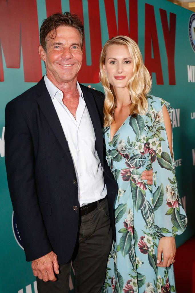 """<p><strong>Age gap: </strong>39 years </p><p>Dennis Quaid made headlines when he proposed to 26-year-old PhD student Laura Savoie while on a press trip in Hawaii after just four months of dating. The actor told <a href=""""https://extratv.com/2019/10/21/dennis-quaid-dishes-on-his-romantic-proposal-to-laura-savoie/"""" rel=""""nofollow noopener"""" target=""""_blank"""" data-ylk=""""slk:Extra"""" class=""""link rapid-noclick-resp"""">Extra</a>: """"She was actually taking a selfie of us, and I put the ring in front and said, 'Will you marry me?'—and then she fell down."""" You know, in typical Millennial fashion. Quaid split from his girlfriend of three years, Santa Auzina, 32, in June. </p>"""
