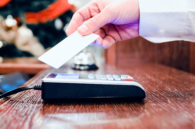 Credit card spending in April dropped by 50% to £8.7bn. Photo: Getty