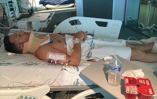 James was left paralysed from the chest down. Photo: Mega