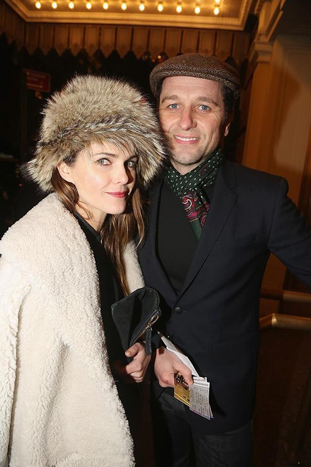 <p>On Sunday, the stars of<em> The Americans</em> bundled up and caught the opening-night performance of <em>Farinelli and the King</em> at the Belasco Theatre on Broadway. (Photo: Bruce Glikas/FilmMagic) </p>