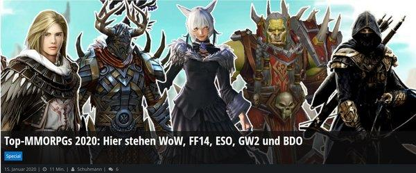most played mmorpg 2020