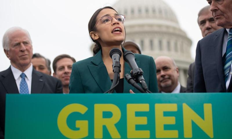The Green New Deal supported by Alexandria Ocasio-Cortez is setting the agenda on climate change for the Democrats.