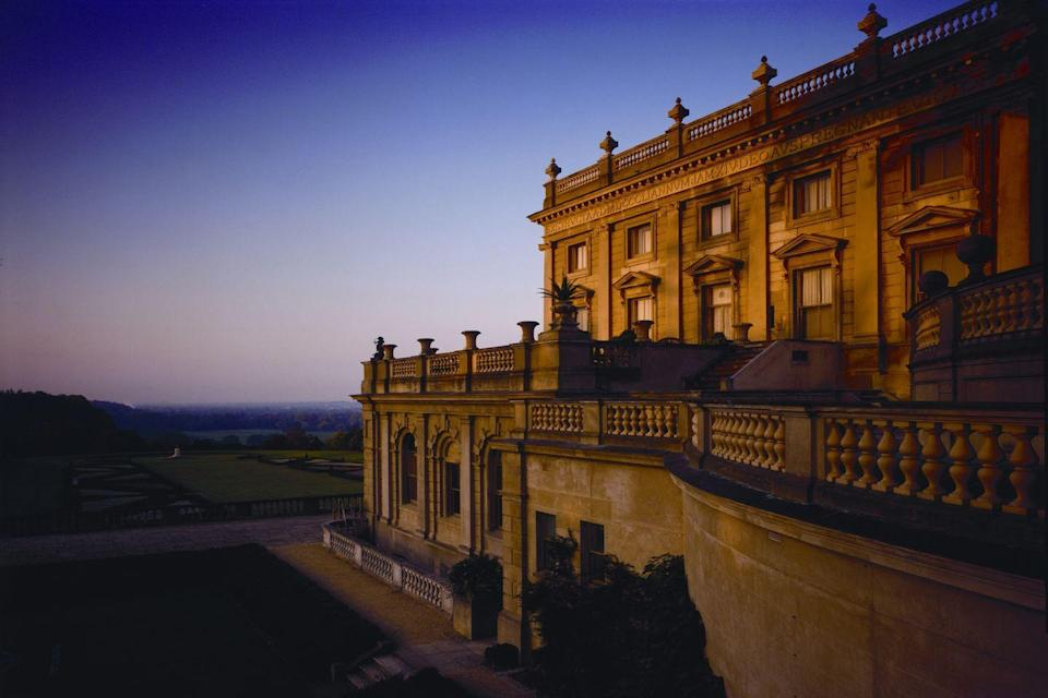 "<p>A National Trust property that's open for visitors, Cliveden House in Berkshire is also available to a lucky few overnight guests. As with the day trippers, they've come to admire the Palladian manor and all of its immaculate grounds: a parterre, chapel and hazy rolling acreage that looks like a landscape painting come to life. The drawing-room, with its high windows, fireplace, wood-panelled walls and bookshelves, is possibly the cosiest cocktail spot in the country. Other highlights include an outdoor pool with a scandalous history, one of only a handful of Sarah Chapman clinics in the country and an entrance hall with armour and oil paintings. The Dining Room is the formal, chandelier-filled, fine-dining restaurant, with a candy trolley wheeled around afterwards for pick 'n' mix fans – though the more casual Astor Grill is equally enticing, mostly thanks to its Josper grill. It has an official royal seal, with previous guests including Queen Victoria and the Duchess of Sussex on the night before her wedding.</p><p>Cliveden, from £455 a room a night (<a href=""https://www.clivedenhouse.co.uk/"" rel=""nofollow noopener"" target=""_blank"" data-ylk=""slk:clivedenhouse.co.uk"" class=""link rapid-noclick-resp"">clivedenhouse.co.uk</a>).</p>"