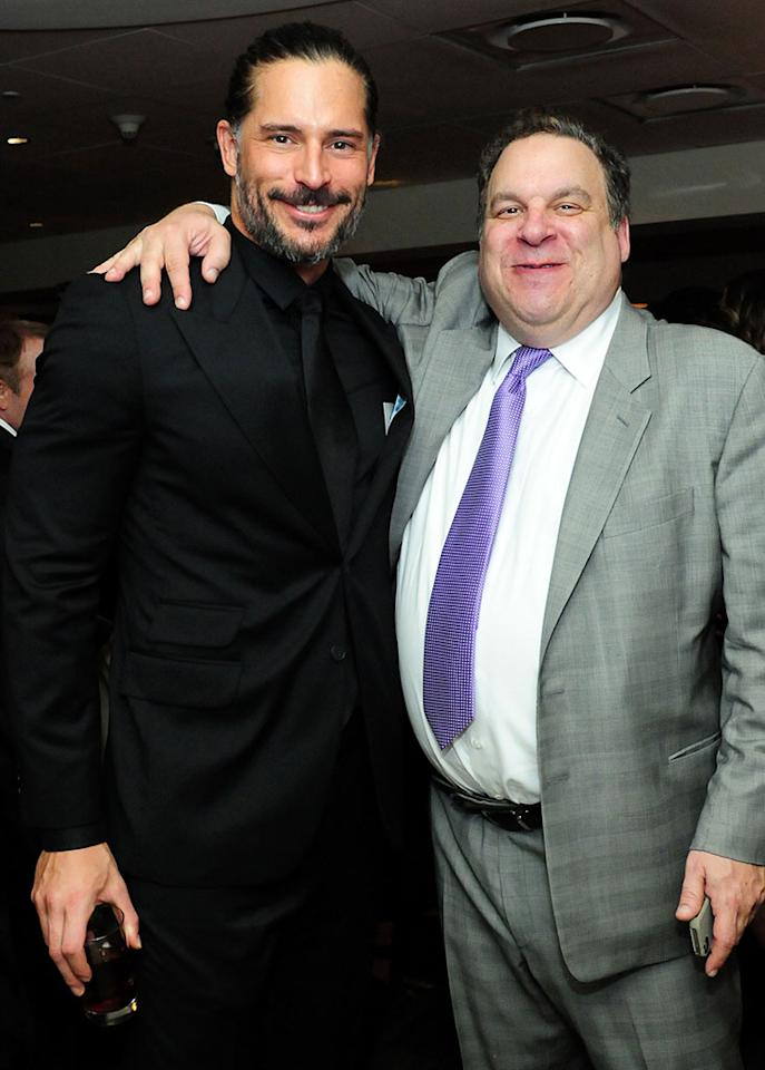 Joe Manganiello and Jeff Garlin attend HBO's Official Golden Globe Awards After Party held at Circa 55 Restaurant at The Beverly Hilton Hotel on January 13, 2013 in Beverly Hills, California.