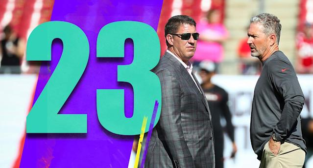 <p>No surprise that Dirk Koetter got fired. But what has GM Jason Licht done to earn another season? It must be something that isn't obvious, because there's no clear answer. (Jason Licht, Dirk Koetter) </p>