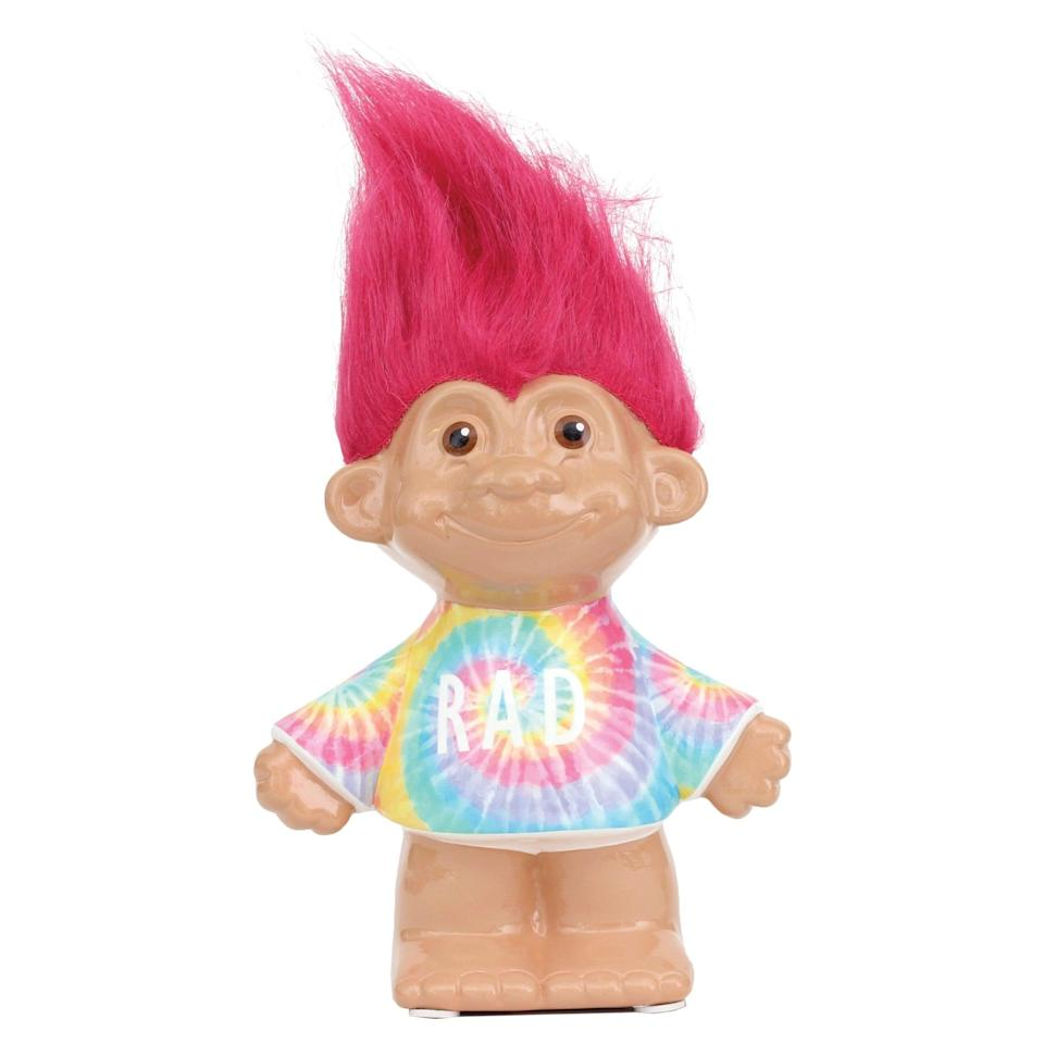 <p>Show some love to the hair-raising toys of the '90s with this <span>Troll Bank</span> ($20). </p>