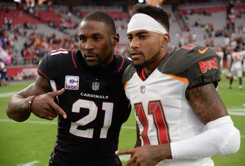 Former Cardinals CB Patrick Peterson (21) and veteran NFL WR DeSean Jackson might be good candidates to change jersey numbers if the league will allow it.