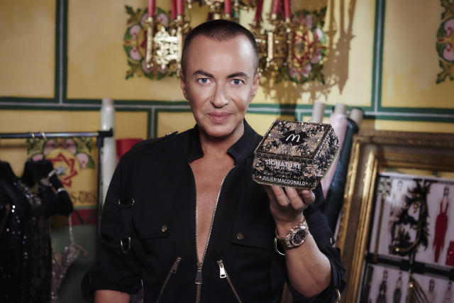 Fashion designer Julien Macdonald has teamed up with McDonald's on a limited edition box [Photo: Joel Anderson/McDonald's]