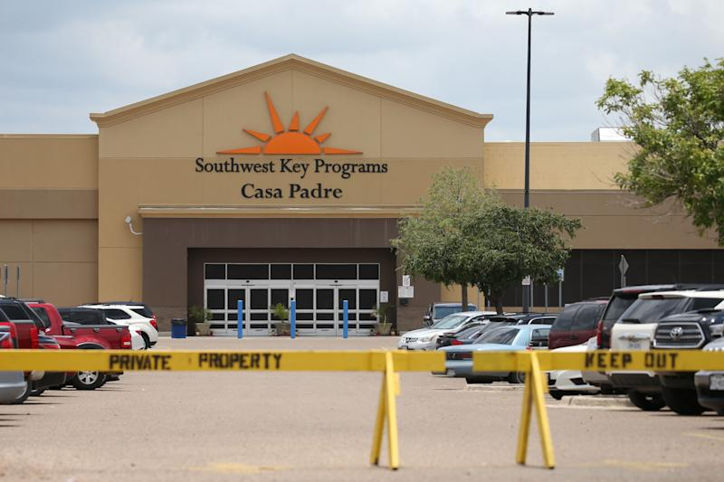 From the outside, Casa Padre's Walmart origins are unmistakable.