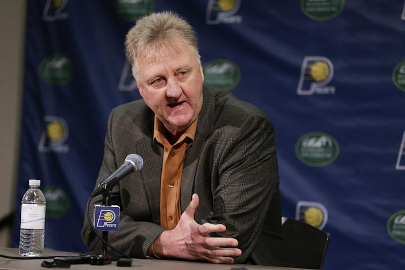 Larry Bird has had two stints as the Pacers' president of basketball operations. (AP)