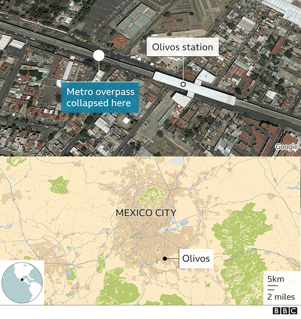 Map of where the incident took place