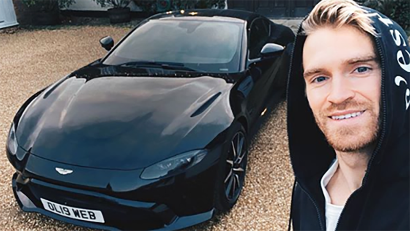 English racing driver Oliver Webb has revealed he has to undertake a road safety course, after he was busted driving at 52mph in a 50 zone - much to the delight of his followers on Instagram. Picture: Instagram/oliverjameswebb