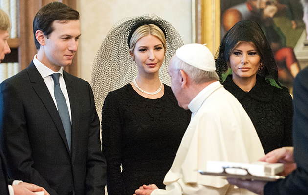 Melania and Ivanka Trump visited the Pope in the Vatican City yesterday. Photo: Getty
