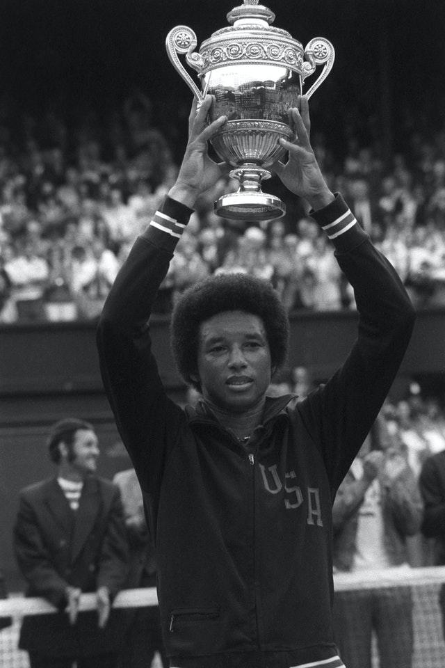 Arthur Ashe's family have requested that his statue be removed (PA)