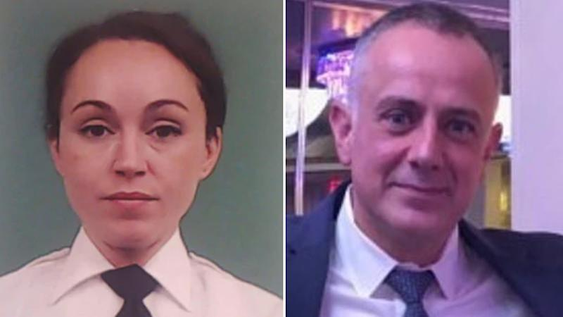 New York lieutenant Brandi Sanchez (left) and Sergeant Lambros Gavalas (right) were allegedly caught having sex while at work.