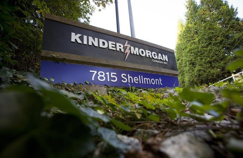The entrance for the Kinder Morgan Tank Farm is pictured in Burnaby