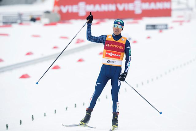 FIS Nordic Combined World Cup - Men's Gundersen LH HS134/10.0 K - Oslo, Norway - March 10, 2018 Akito Watabe of Japan reacts after winning. Terje Bendiksby/NTB Scanpix/via REUTERS ATTENTION EDITORS - THIS IMAGE WAS PROVIDED BY A THIRD PARTY. NORWAY OUT.