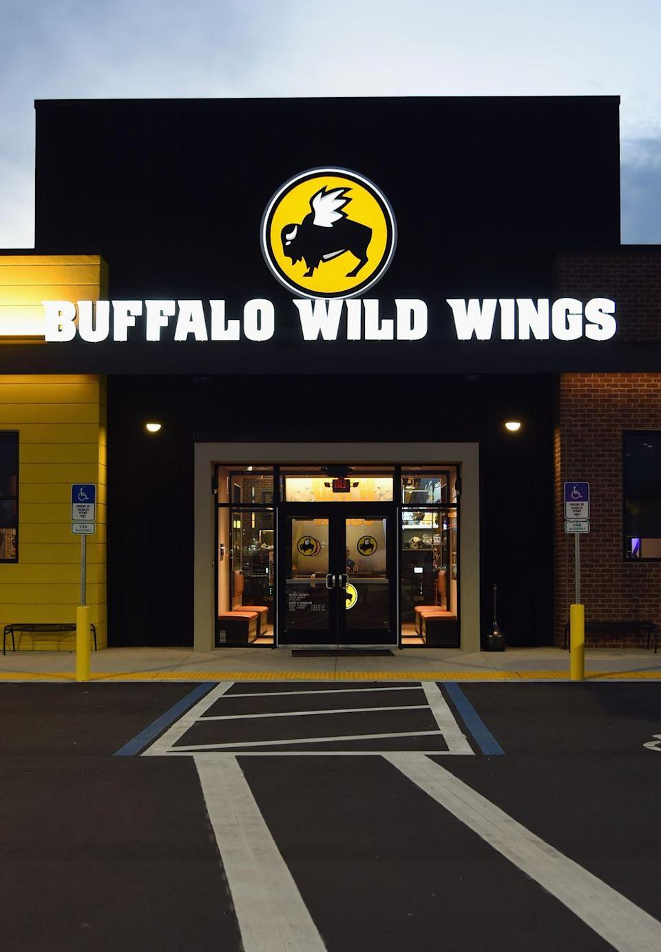 "<p>Craving wings? Stop by select Buffalo Wild Wings locations for some spicy goodness. Juut make sure you find out when the restaurant's <a href=""http://www.storebusinesshours.com/buffalo-wild-wings-hours/"" rel=""nofollow noopener"" target=""_blank"" data-ylk=""slk:reduced holiday hours"" class=""link rapid-noclick-resp"">reduced holiday hours</a> are by checking the online <a href=""https://www.buffalowildwings.com/en/locations/"" rel=""nofollow noopener"" target=""_blank"" data-ylk=""slk:store locator"" class=""link rapid-noclick-resp"">store locator</a>.</p>"