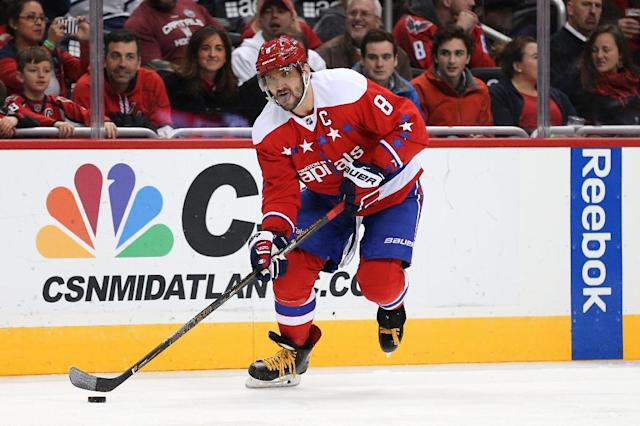 Alex Ovechkin of the Washington Capitals, pictured on January 27, 2016, will rest a nagging lower body injury instead of playing in the All-Star Game (AFP Photo/Patrick Smith)