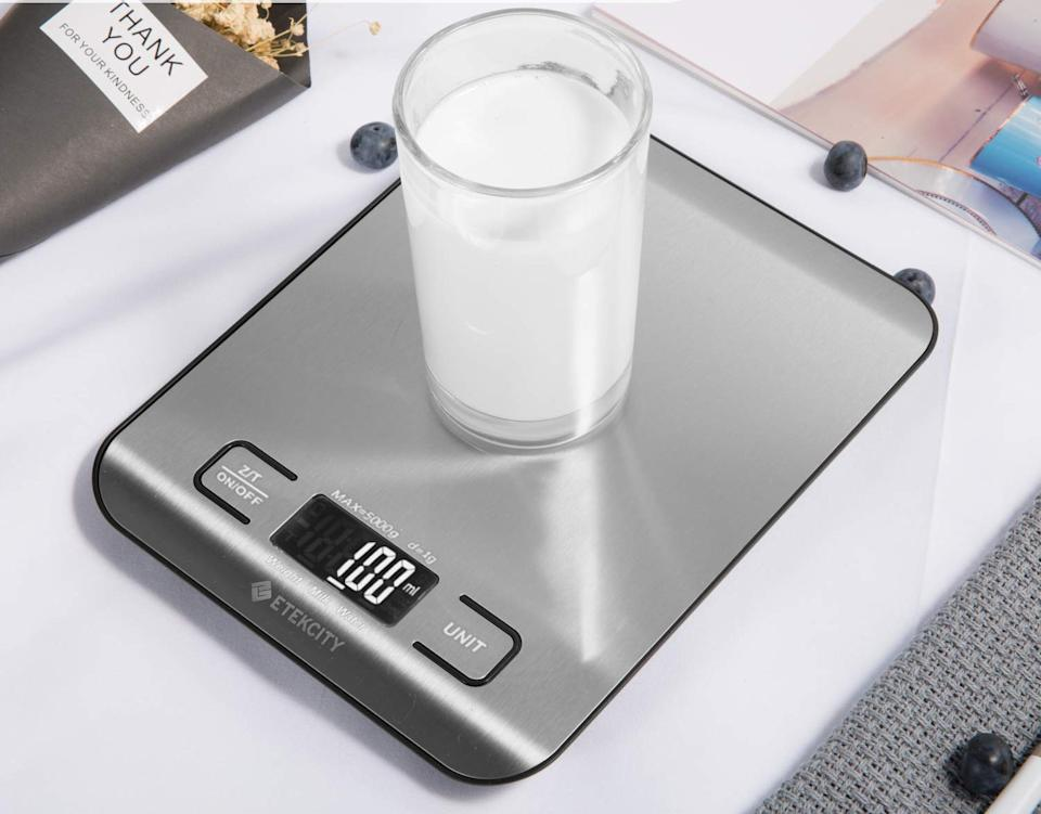 Weigh to go: The Etekcity is Amazon's #1 bestselling kitchen scale (Photo: Amazon)