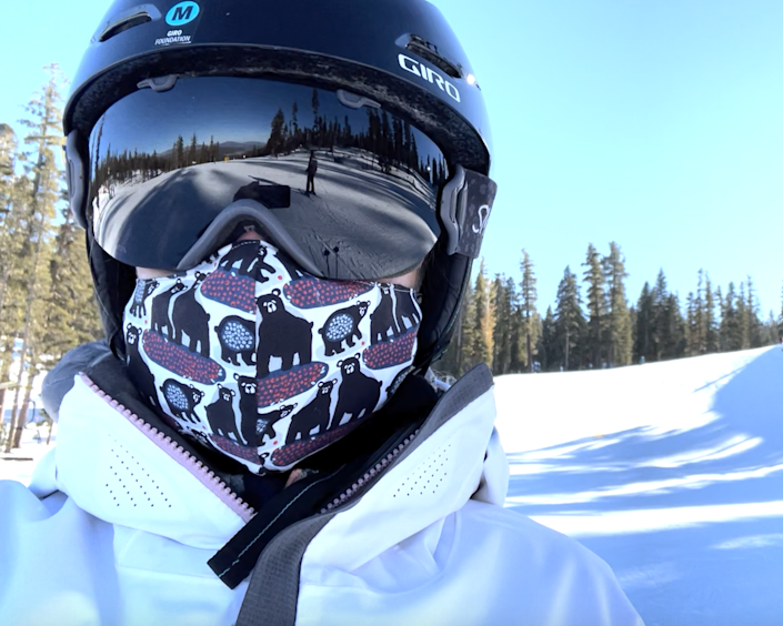 A ski selfie from a groomer run at Northstar near Lake Tahoe, where I almost have the whole mountain to myself.