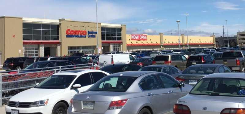 A Costco store as seen from the parking lot.