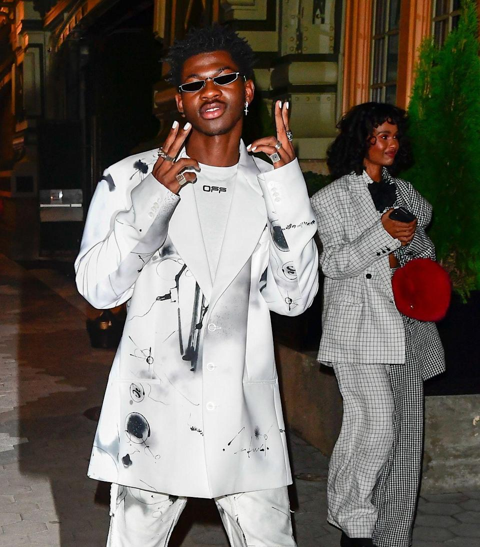 <p>He wore this stylish look to a CFDA/Vogue event honoring his frequent collaborator, the designer Christopher John Rogers.</p>