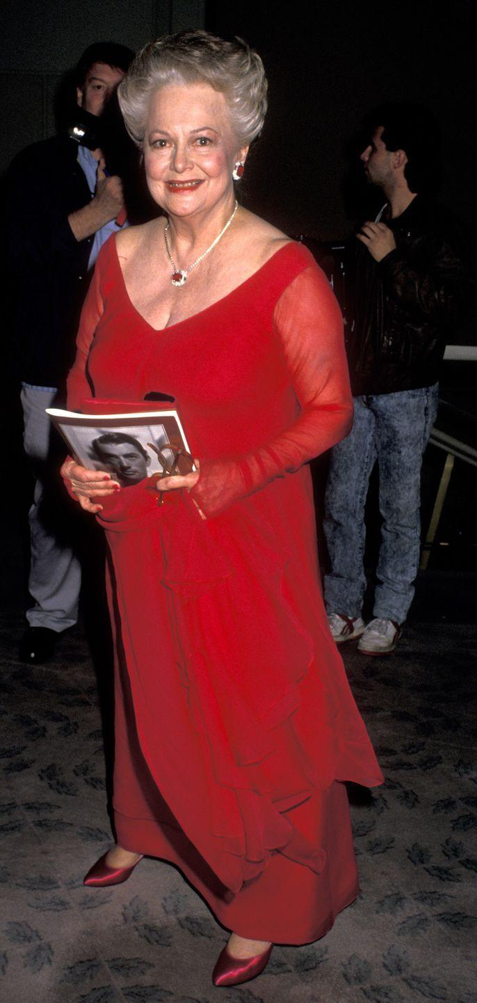 <p>Olivia at the Beverly Hilton Hotel in 1989.</p>