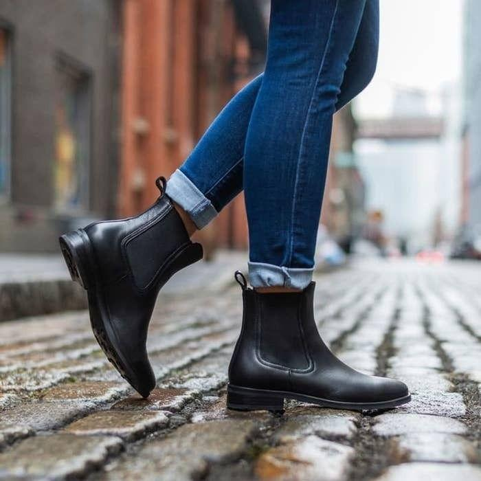 """You can grab these whenever you're not quite sure what to wear but need a sturdy pair of shoes.Thursday Boot Company suggests ordering a half size up from your normal size (aka your boot size).<br /><br /><strong>Promising review:</strong>""""I love the fit of this boot. My heels don't slide up in them because they have some shaping around the heel inside, the mark of a more expensive boot. They fit right out of the box.<strong>I wore them around the house and didn't want to take them off! Walked around Portland and very comfortable, no break-in period.</strong>I sized up by a half-size, which I typically do in booties."""" —<a href=""""https://amzn.to/3gd6Yk1"""" target=""""_blank"""" rel=""""nofollow noopener noreferrer"""" data-skimlinks-tracking=""""5753950"""" data-vars-affiliate=""""Amazon"""" data-vars-href=""""https://www.amazon.com/gp/customer-reviews/R2XYU62FWL56P8?tag=bfabby-20&ascsubtag=5753950%2C3%2C30%2Cmobile_web%2C0%2C0%2C0"""" data-vars-keywords=""""cleaning,fast fashion"""" data-vars-link-id=""""0"""" data-vars-price="""""""" data-vars-retailers=""""Amazon"""">Ginger</a><br /><br /><strong>Get them from Amazon for<a href=""""https://amzn.to/3aeEX80"""" target=""""_blank"""" rel=""""nofollow noopener noreferrer"""" data-skimlinks-tracking=""""5753950"""" data-vars-affiliate=""""Amazon"""" data-vars-asin=""""B07PC3FT9D"""" data-vars-href=""""https://www.amazon.com/dp/B07PC3FT9D?tag=bfabby-20&ascsubtag=5753950%2C3%2C30%2Cmobile_web%2C0%2C0%2C15973684"""" data-vars-keywords=""""cleaning,fast fashion"""" data-vars-link-id=""""15973684"""" data-vars-price="""""""" data-vars-product-id=""""17973209"""" data-vars-product-img=""""https://m.media-amazon.com/images/I/41vJbJFVMvL.jpg"""" data-vars-product-title=""""Thursday Boot Company Duchess Women's Chelsea Boot"""" data-vars-retailers=""""Amazon"""">$160</a>(available in sizes 5-11 and in seven colors).</strong>"""