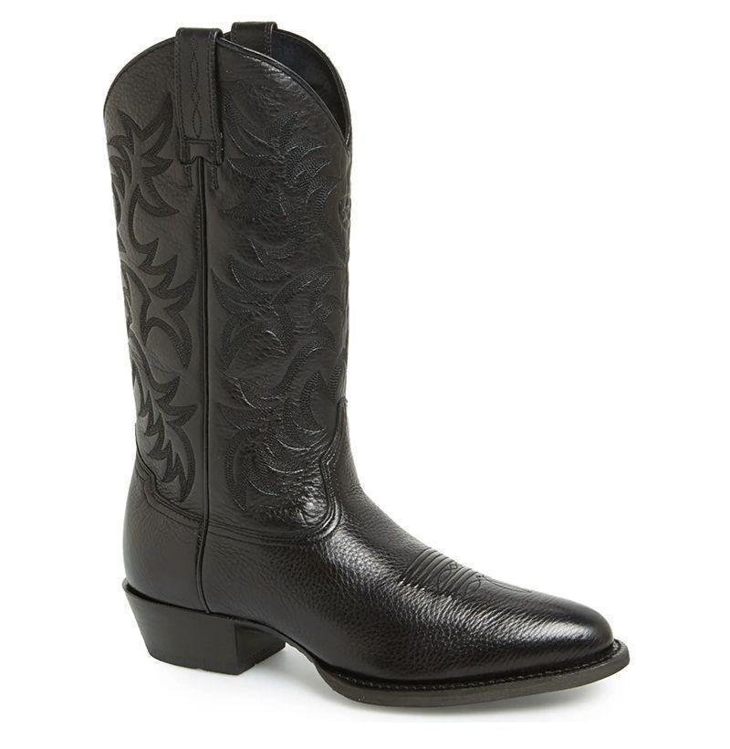 "<p><strong>ARIAT</strong></p><p>nordstrom.com</p><p><strong>$179.95</strong></p><p><a href=""https://go.redirectingat.com?id=74968X1596630&url=https%3A%2F%2Fshop.nordstrom.com%2Fs%2Fariat-heritage-leather-cowboy-r-toe-boot-men%2F3961305&sref=https%3A%2F%2Fwww.esquire.com%2Fstyle%2Fmens-fashion%2Fg35217202%2Fbest-mens-western-boots%2F"" rel=""nofollow noopener"" target=""_blank"" data-ylk=""slk:Buy"" class=""link rapid-noclick-resp"">Buy</a></p><p>But if it's a bona fide cowboy boot you want, it's a bona fide cowboy boot you're going to get. </p>"