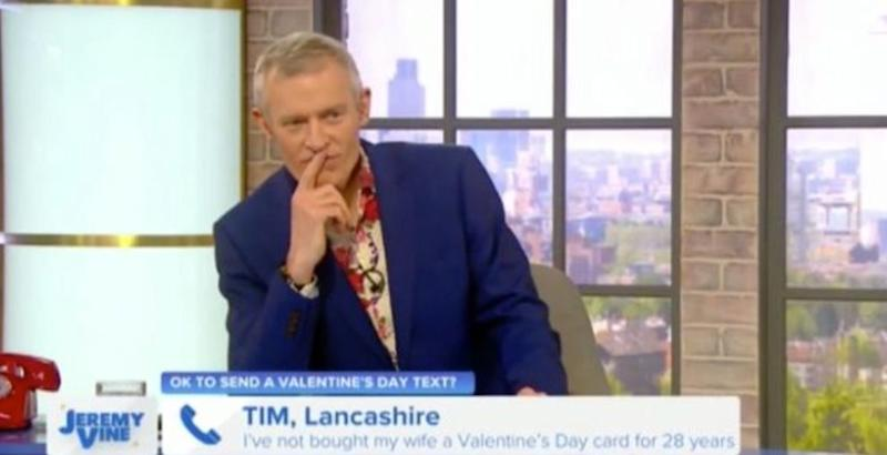 Jeremy Vine reacts to the sudden C-bomb on his live panel show (Photo: Channel 5)