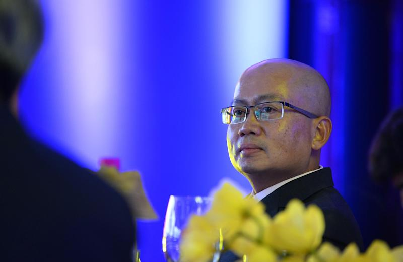 Chief Executive Officer of TATA SIA Airlines Limited (TSAL), Phee Teik Yeoh looks on during the launch of the new brand name 'Vistara' in New Delhi on August 11, 2014 (AFP Photo/Chandan Khanna)