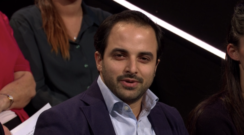 Dr Omar Chehab asked how the leaders would meet the NHS's future demands without just promising additional funding. (ITV)
