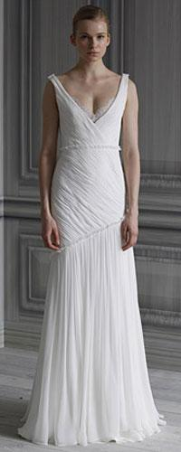 Angelina Jolie's Wedding Gown: Badgley Mischka, Monique Lhuillier