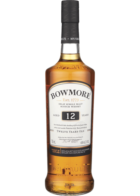 """<p><strong>Bowmore</strong></p><p>totalwine.com</p><p><strong>$59.99</strong></p><p><a href=""""https://www.totalwine.com/spirits/scotch/single-malt/bowmore-12-yr/p/8066750"""" rel=""""nofollow noopener"""" target=""""_blank"""" data-ylk=""""slk:Shop Now"""" class=""""link rapid-noclick-resp"""">Shop Now</a></p><p>A sip of this single malt scotch will warm your entire body and fill you with the taste of lemon, honey, and just a bit of smokiness. Drink it ~OTR~ (you can figure it out) or enhance that lemon flavor by mixing up some scotch sours for you and your friends. </p>"""