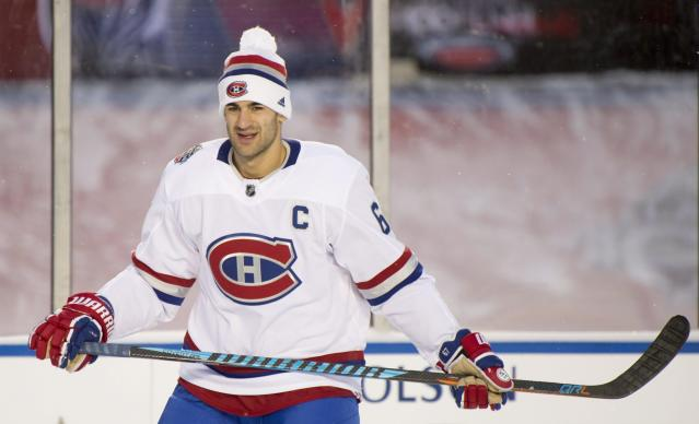 <p>Montreal Canadiens captain Max Pacioretty tries to loosen up through the minus-20 degree weather on a frigid Saturday night in the Nation's Capital. </p>