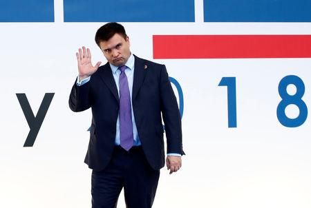 Ukrainian Foreign Minister Pavlo Klimkin arrives to attend the Organization for Security and Co-operation in Europe (OSCE) Summit in Milan, Italy December 6, 2018. REUTERS/Alessandro Garofalo