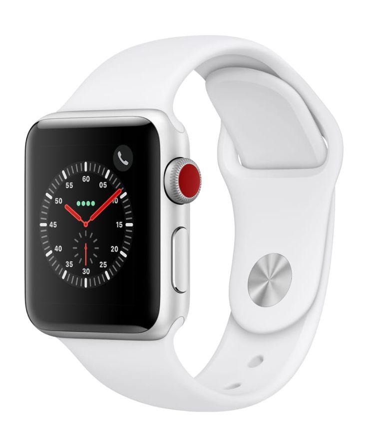 Apple Watch Series 3, GPS + Cellular, 42mm, Sport Band, Aluminum Case in White. (Photo: Walmart)