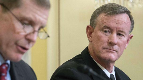 PHOTO: Commander of U.S. Special Operations Command, Admiral William H. McRaven, right, testifies before the Senate Armed Services subcommittee in Washington, D.C., March 11, 2014. (Jim Watson/AFP/Getty Images, FILE)