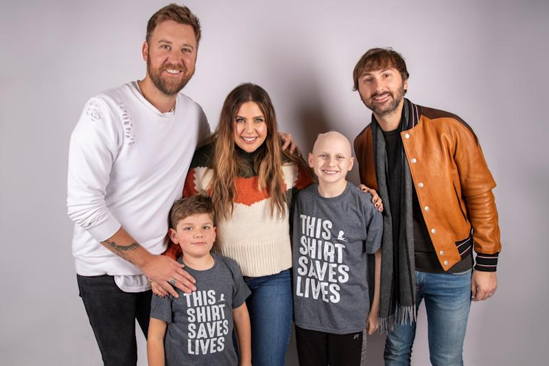 Lady Antebellum with Kael and Eli - Credit: ALSAC/St. Jude