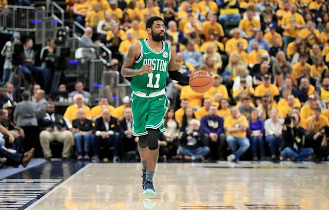 Kyrie Irving might be the best closer in the playoffs thus far. (Getty Images)