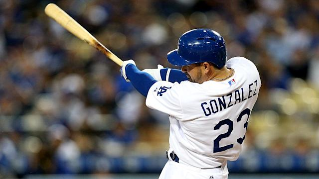 After being traded to the Atlanta Braves, Adrian Gonzalez thanked the Los Angeles Dodgers.