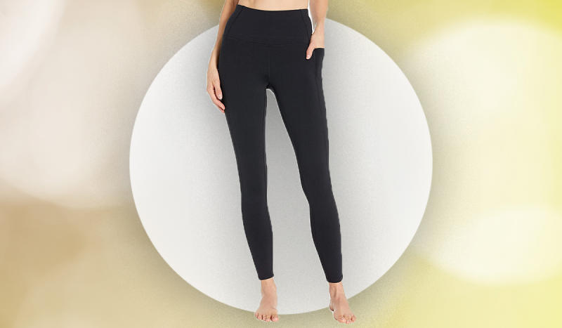 These leggings are designed to never slide down, even as you walk. (Photo: Zappos)