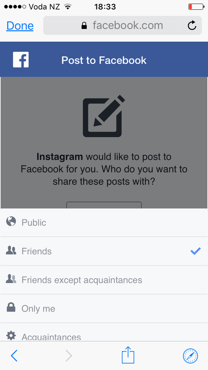 how to link instagram facebook img