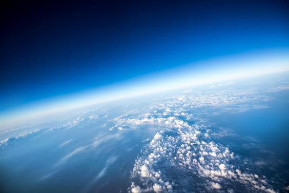 An aerial view of Earth. Scientists have found a large hole in the ozone layer above the Arctic (istock by Getty Images/cookelma)