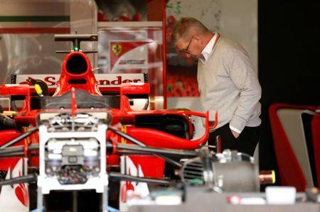 Formula One - British Grand Prix 2017 - Silverstone, Britain - July 13, 2017 Ross Brawn - Formula One Managing Director of Motorsports in the Ferrari garage REUTERS/Andrew Boyers