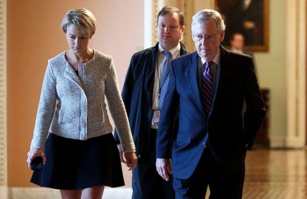 PHOTO: Senate Majority Leader Mitch McConnell walks to his office after speaking on the Senate Floor in the U.S. Capitol in Washington, Sept. 25, 2018. (Shawn Thew/EPA via Shutterstock)