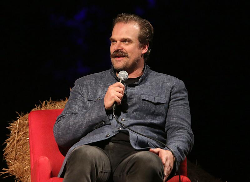 "HOLLYWOOD, CA - AUGUST 17: David Harbour attends Netflix's ""Stranger Things"" 12 Emmy nominations celebration at Hollywood Forever on August 17, 2018 in Hollywood, California. (Photo by Jesse Grant/WireImage)"
