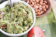 """<p>Add a half cup of soft-cooked pinto beans to your next batch of guacamole for a <a href=""""https://www.thedailymeal.com/easy-summer-salsa-and-dip-gallery?referrer=yahoo&category=beauty_food&include_utm=1&utm_medium=referral&utm_source=yahoo&utm_campaign=feed"""" rel=""""nofollow noopener"""" target=""""_blank"""" data-ylk=""""slk:bright chip dip made for sunny days"""" class=""""link rapid-noclick-resp"""">bright chip dip made for sunny days</a>. </p> <p><strong><a href=""""https://www.thedailymeal.com/best-recipes/guacamole-with-pinto-beans?referrer=yahoo&category=beauty_food&include_utm=1&utm_medium=referral&utm_source=yahoo&utm_campaign=feed"""" rel=""""nofollow noopener"""" target=""""_blank"""" data-ylk=""""slk:For the Guacamole with Pinto Beans recipe, click here."""" class=""""link rapid-noclick-resp"""">For the Guacamole with Pinto Beans recipe, click here.</a></strong></p>"""